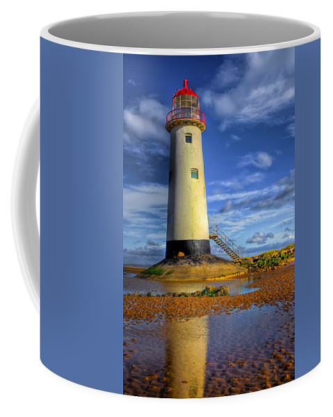 Beach Coffee Mug featuring the photograph Lighthouse by Adrian Evans