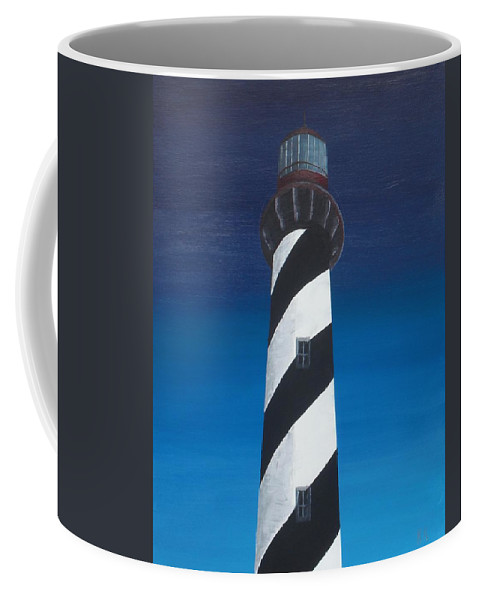Lighthouse Coffee Mug featuring the painting Lighthouse by Kelvin Kelley