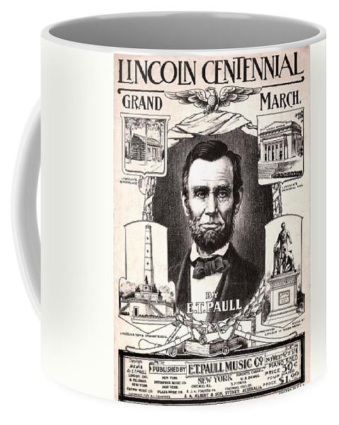 1909 Coffee Mug featuring the photograph Lincoln Centennial, C1909 by Granger