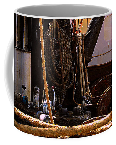 New Bedford Coffee Mug featuring the photograph Line by Marysue Ryan