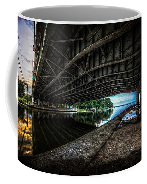 Bridge Coffee Mug featuring the photograph Lines by Everet Regal
