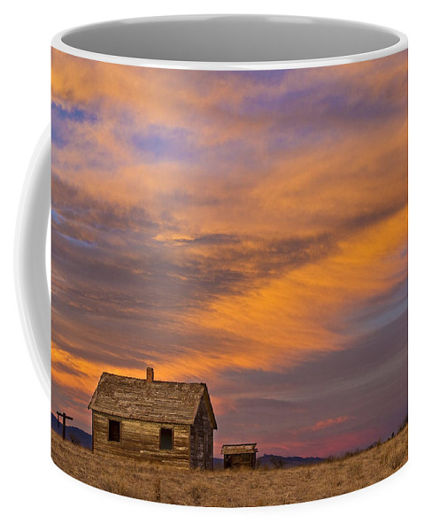 North Coffee Mug featuring the photograph Little House On The Colorado Prairie 2 by James BO Insogna