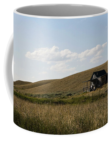 Farmhouse Coffee Mug featuring the photograph Little House On The Plains by Lorraine Devon Wilke