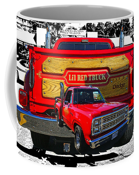 Cars Coffee Mug featuring the photograph Little Red Express Dbl Hdr by Randy Harris