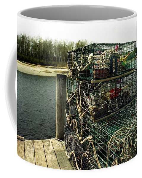 Me Coffee Mug featuring the photograph Lobster Pots by Skip Willits