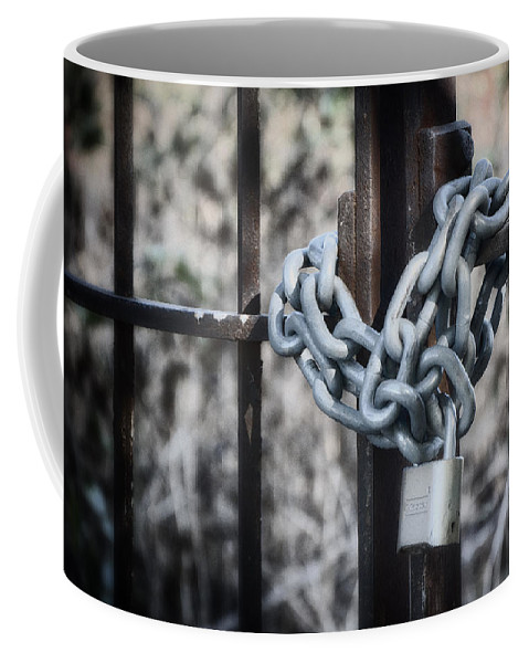 Still Life Coffee Mug featuring the photograph Locked Out Again by Joan Carroll