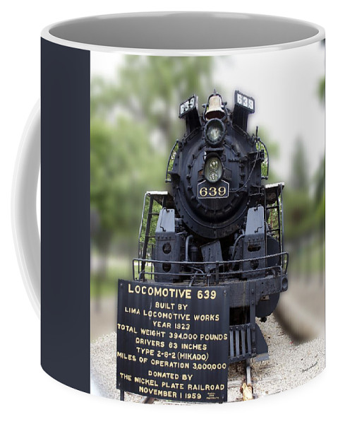 Locomotive Coffee Mug featuring the photograph Locomotive 639 Type 2 8 2 Front View by Thomas Woolworth