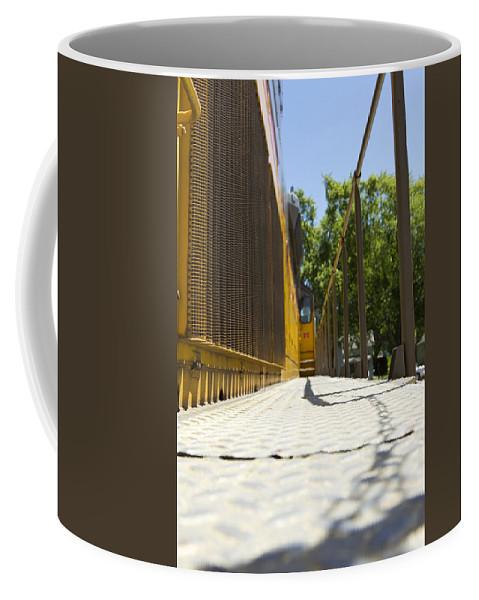 Locomotive Coffee Mug featuring the photograph Locomotive Walkway 1 by John Brueske