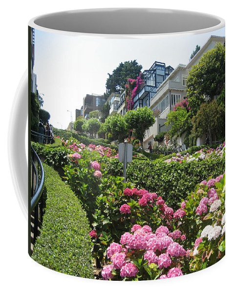 Lombard Street Coffee Mug featuring the photograph Lombard Street by Dany Lison
