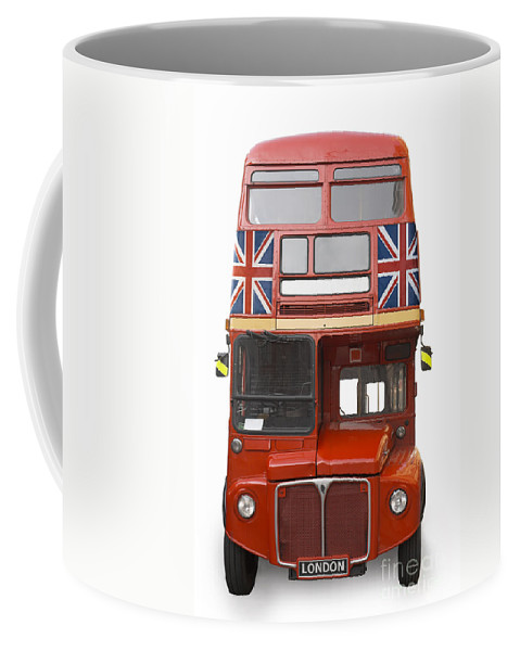London Coffee Mug featuring the photograph London Bus by Martin Williams