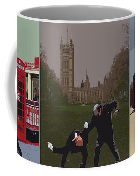 Matrix Coffee Mug featuring the photograph London Matrix Triptych by Jasna Buncic