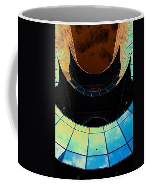 London Coffee Mug featuring the digital art London Southbank Abstract View by David Pyatt
