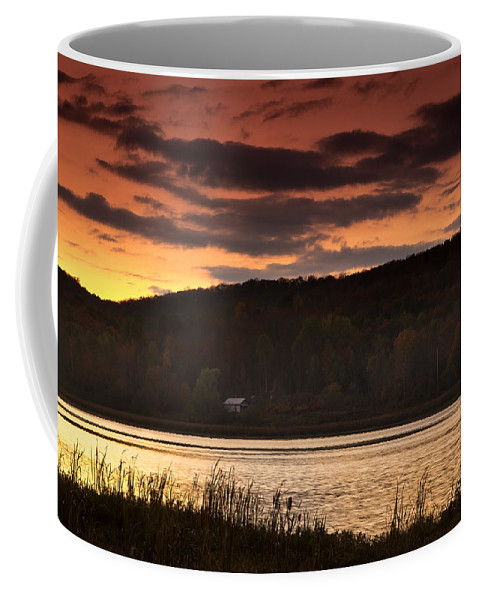Sunset Coffee Mug featuring the photograph Lone Cabin by Cale Best