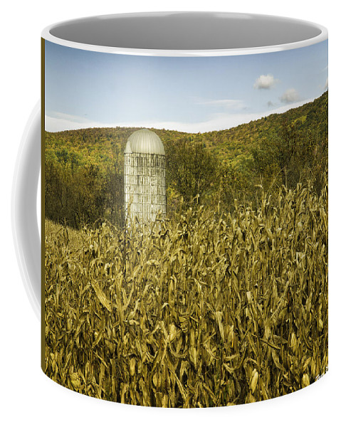 Landscape Coffee Mug featuring the photograph Lone Silo by Fran Gallogly