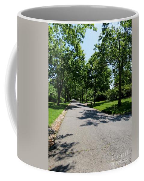 Street Coffee Mug featuring the photograph Long Walk Ahead by Art Dingo