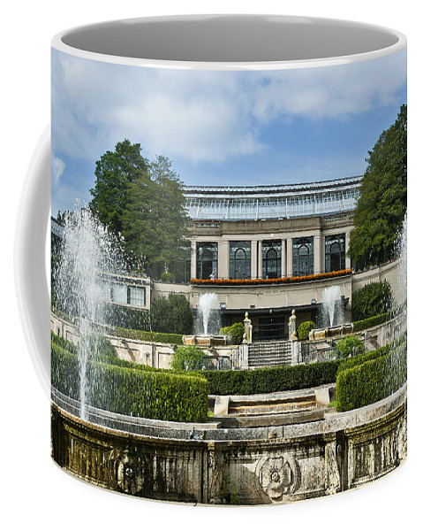 Conservatory Coffee Mug featuring the photograph Longwood Gardens Fountains by John Greim