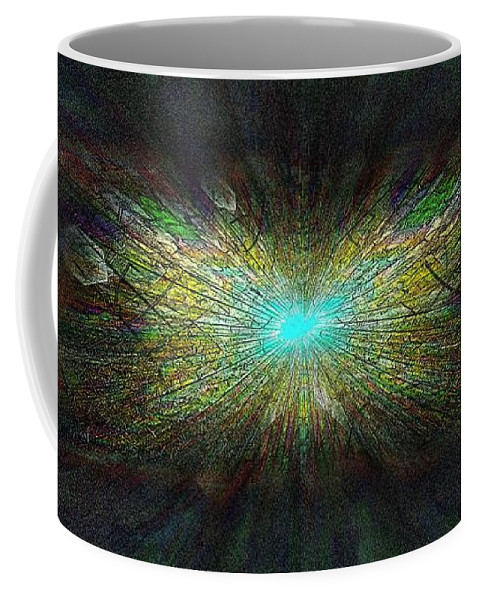 Abstract Coffee Mug featuring the digital art Look Up by Tim Allen