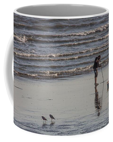 Beach Coffee Mug featuring the photograph Looking For Lugworm by Dawn OConnor