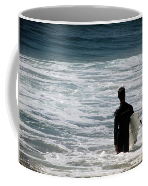 Carlsbad Coffee Mug featuring the photograph Looking For The Big One by Laurie Search