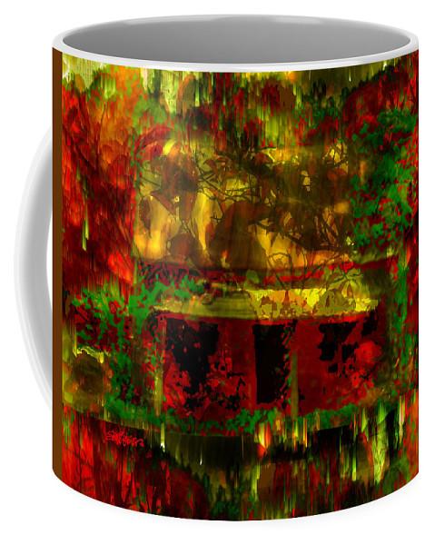 Looking Through Leaves Coffee Mug featuring the digital art Looking Through Leaves by Seth Weaver