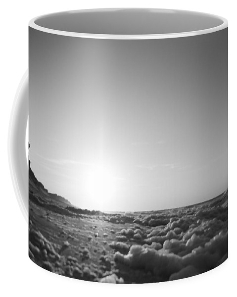 Barrier Coffee Mug featuring the digital art Looking To The Sea by Betsy Knapp
