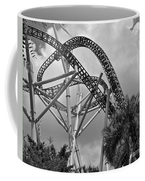 Roller Coaster Coffee Mug featuring the photograph Loop The Loop by Carol Bradley