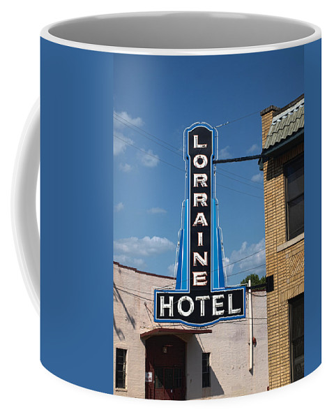 Memphis Coffee Mug featuring the photograph Lorraine Hotel Sign by Joshua House