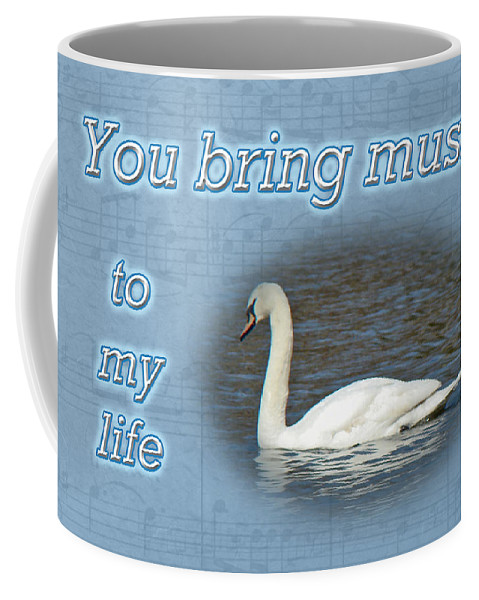 Love Coffee Mug featuring the photograph Love - I Love You Greeting Card - Mute Swan by Mother Nature