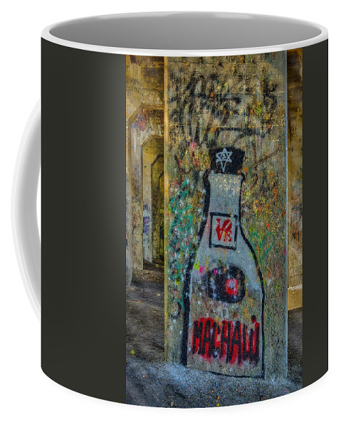 Graffiti Coffee Mug featuring the photograph Love Graffiti by Susan Candelario