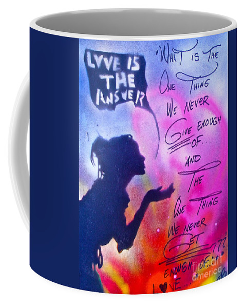 Love Paintings Coffee Mug featuring the painting Love Is The Answer by Tony B Conscious