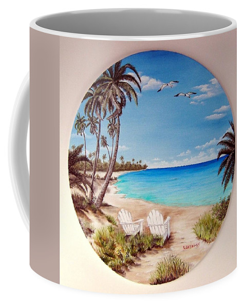 Greeting Card Coffee Mug featuring the painting Love by Riley Geddings