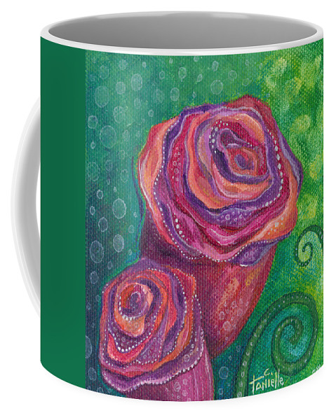 Floral Coffee Mug featuring the painting Love by Tanielle Childers