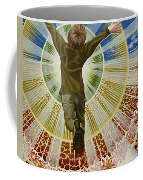 Love Coffee Mug featuring the painting Lovechild by Pascal Roy