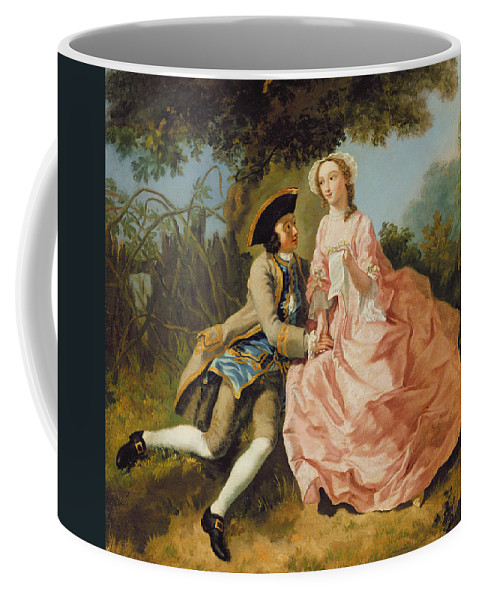 Xyc284022 Coffee Mug featuring the photograph Lovers In A Landscape by Pieter Jan van Reysschoot
