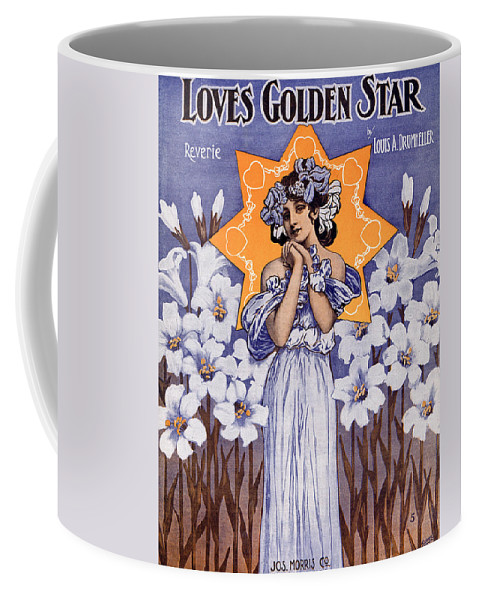 Classic Coffee Mug featuring the photograph Loves Golden Star by Mel Thompson