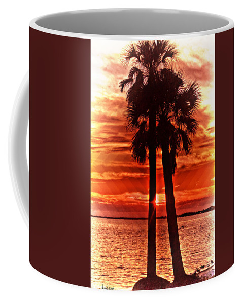 Palm Trees Coffee Mug featuring the photograph Loving Palms-the Journey by Janie Johnson