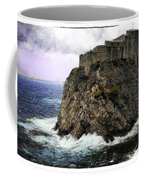 Lovrijenac Coffee Mug featuring the photograph Lovrijenac Tower In Dubrovnik by Madeline Ellis