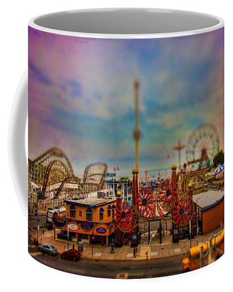 Luna Park Coffee Mug featuring the photograph Luna Park-a-rama by Chris Lord