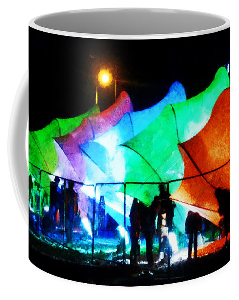 Lux City Coffee Mug featuring the photograph Lux City by Steve Taylor