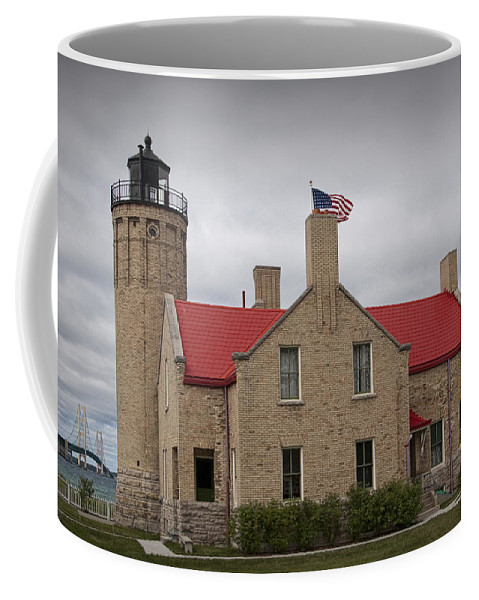 Art Coffee Mug featuring the photograph Mackinaw City Lighthouse Number 2446 by Randall Nyhof