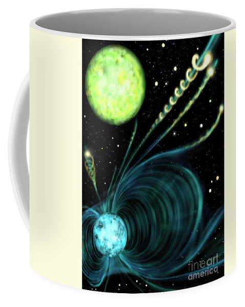 Astronomy Coffee Mug featuring the photograph Magnetic White Dwarf Star Euvej0317-855 by Russell Kightley