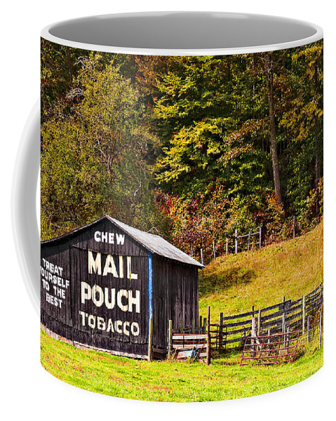 Mail Coffee Mug featuring the photograph Mail Pouch Tobacco Barn by Kathleen K Parker