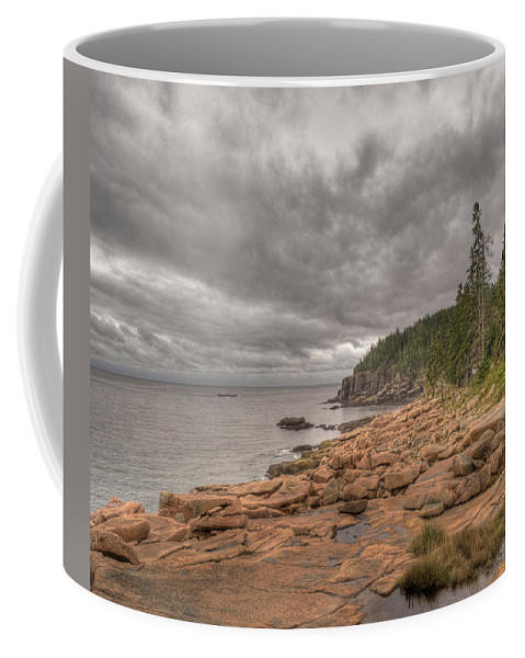 Landscape Coffee Mug featuring the photograph Maine Coastline. Acadia National Park by Juli Scalzi