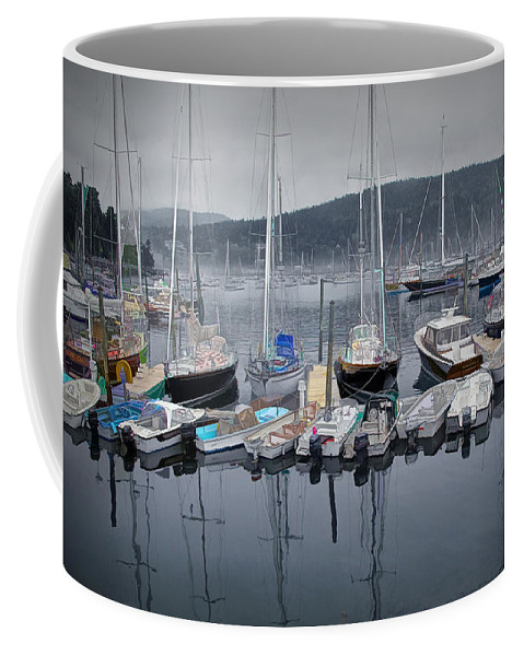 Art Coffee Mug featuring the photograph Maine Harbor by Randall Nyhof