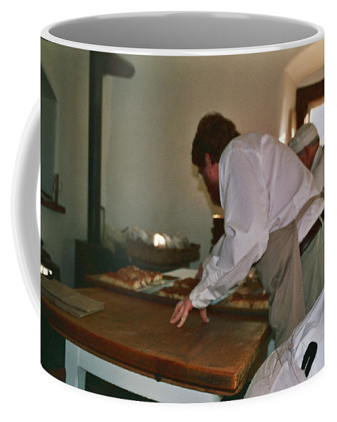 Prints Coffee Mug featuring the photograph Making Bread by Lee Hartsell