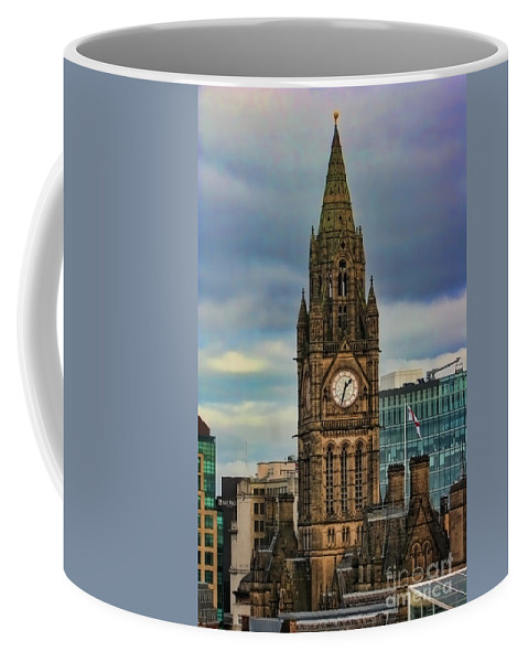 Manchester Coffee Mug featuring the photograph Manchester Town Hall by Heather Applegate