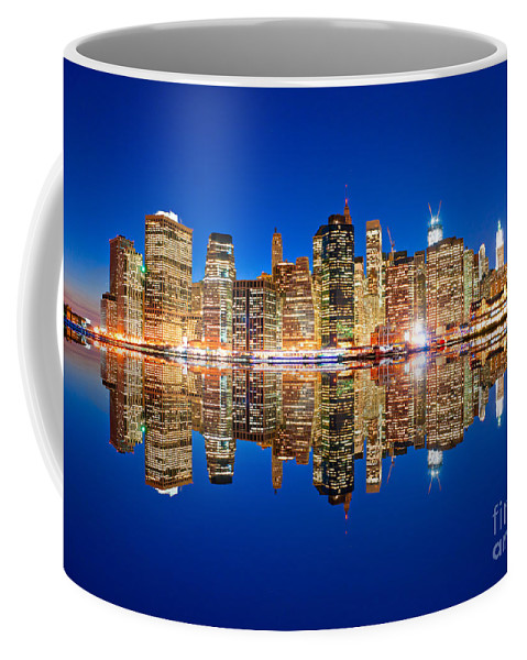 New York Coffee Mug featuring the photograph Manhattan by Luciano Mortula