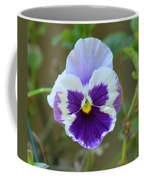 Masked Coffee Mug featuring the photograph Masked In Purple by Maria Urso