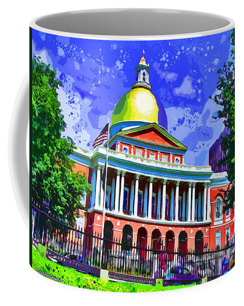 Massachusetts State House Coffee Mug featuring the digital art Massachusetts State House by Stephen Younts