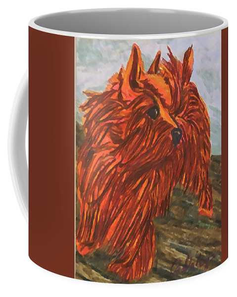 Dogs Coffee Mug featuring the painting Max by Gail Daley